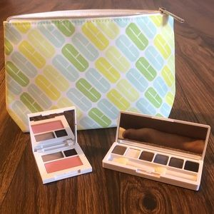 Clinique Makeup Bag and 2 Eyeshadow Palettes